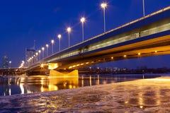 Viena en la oscuridad, Danubio imagen de archivo