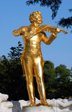Viena: Estatua de Strauss Imagenes de archivo