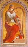 Viena - fresco de rey David de Eduard Engerth a partir del año 1857 en la iglesia de Altlerchenfelder Foto de archivo