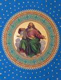Viena - fresco de uno de los cuatro profetas grandes a partir del año 1855 de Joseph Schonman en el techo del cubo lateral en Altl Imagen de archivo