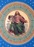 Viena - fresco de uno de los cuatro profetas grandes a partir del año 1855 de Joseph Schonman en el techo del cubo lateral en Altl Imagenes de archivo