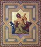 Viena - fresco del profeta Jonah Foto de archivo libre de regalías