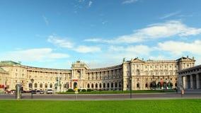 Viena - Hofbur, lapso de tiempo - Austria Fotografía de archivo