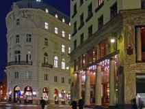 Viena na noite foto de stock