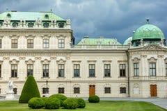 viena O Belvedere superior é um dia ensolarado do verão Fragmento do direita Áustria fotos de stock