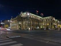 Viena opery noc Obrazy Royalty Free