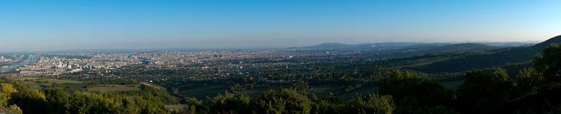Viena panorâmico Danúbio foto de stock
