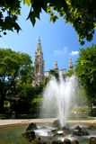 Viena - Rathaus Fotografia de Stock Royalty Free