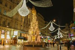 Viena - rua famosa de Graben Fotos de Stock