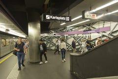 Viena U-Bahn Imagenes de archivo