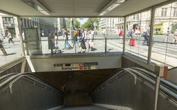 Viena U-Bahn Fotos de archivo libres de regalías