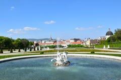Viena/Wien, Áustria: Belvedere Imagens de Stock
