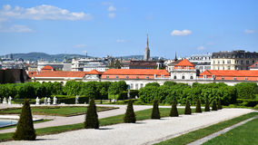 Viena/Wien, Áustria: Belvedere Imagem de Stock Royalty Free