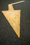 Viene la freccia in strada Fotografia Stock Libera da Diritti
