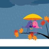 Viene la pioggia o il lustro royalty illustrazione gratis
