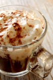 Vienese hot coffe with cream on top Royalty Free Stock Image