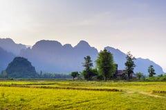 Vieng Лаос Vang стоковая фотография rf