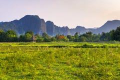 Vieng Laos de Vang Imagem de Stock