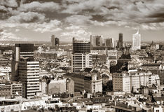 Vienna. Austria. Aerial view with the skyscraper district stock photos