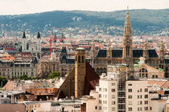 Vienna. Austria, the view of the city from the observation deck of the Cathedral of St. Stephen Stock Image