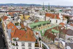 Vienna from above Royalty Free Stock Photos