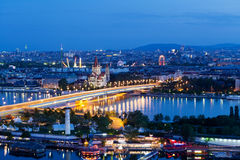 Free Vienna, Aerial View At Night Stock Photography - 24694012
