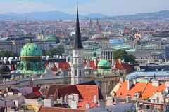 Vienna aerial view Stock Photography