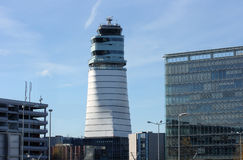 Vienna air traffic control tower Stock Images