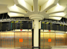 Vienna airport - arrival hall. Flight Information Board - arrival hall Stock Photos