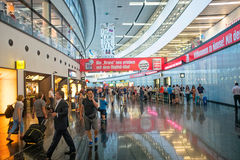 Vienna airport. Interior view of the terminal of the Vienna International Airport royalty free stock images
