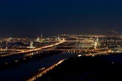 Vienna alla notte Immagini Stock