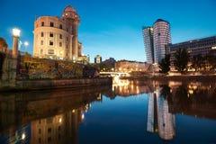 Vienna alla notte, Austria fotografia stock