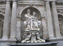 Vienna, allegoria della fontana del Danubio Immagine Stock Libera da Diritti