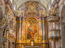 Vienna - altar of baroque st. Annes church Royalty Free Stock Photos