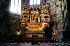 Vienna, altare di Neustadter della salciccia nella cattedrale di Stephansdom Fotografie Stock