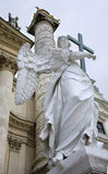 Vienna - angel by st. Charles Boromeo church Stock Photo