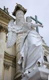 Vienna - angelo dalla chiesa della st Charles Boromeo fotografia stock