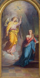 Vienna - Annunciation from main altar of baroque Servitenkirche - church completed in 1670. Stock Image