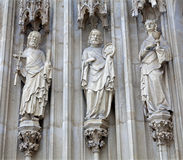 Vienna - The apostle Jacob, Peter and John - Minoriten gothic Stock Photo