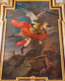 Vienna -  Archangel Michael paint from side altar in baroque Jesuits church Stock Images