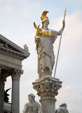Vienna - Athena fountain in winter Royalty Free Stock Image