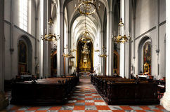 Vienna, Augustinian Church. Augustinian parish church Augustinerkirche in Vienna, Austria. Main nave view Royalty Free Stock Photo