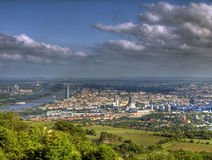 Vienna Austria. This is a panorama photo of Vienna, Austria taken on the sunny afternoon from nearby hill Royalty Free Stock Images