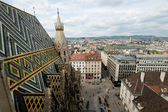 Vienna, Austria aerial landscape Stock Photo