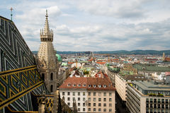 Vienna, Austria aerial landscape Royalty Free Stock Photo