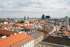 Vienna, Austria aerial landscape Stock Photo
