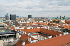 Vienna, Austria aerial landscape Royalty Free Stock Photography