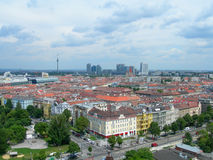 Vienna, Austria aerial view. Vienna - city panorama with downtown buildings stock photo