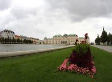 Vienna, Austria - 27 agosto 2014: Castello superiore di belvedere fotografia stock libera da diritti