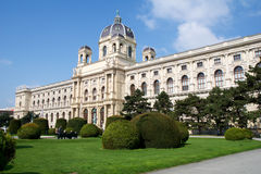 VIENNA, AUSTRIA - APR 29th, 2017: Beautiful view of famous Naturhistorisches Museum Natural History Museum with park and Royalty Free Stock Photos